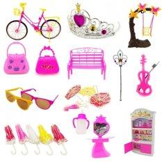 YBC 55Pcs Baby Toys Creative Barbie Dolls DIY Toy Accessory – intl
