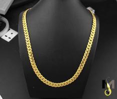 Dây chuyền Inox nam Lặc khít chạm 2 bên 9ly mạ vàng – Thời trang, đẳng cấp