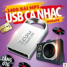 USB ca nhạc 32GB gồm 2500 bài hát MP3 các thể loại Bolero, trữ tình, nhạc trẻ, remix, nhạc thiếu nhi, cách mạng, nhạc không lời, nhạc tổng hợp và nhạc theo yêu cầu-Tặng kèm OTG
