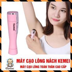 Máy Cạo Lông Nách, triệt lông Kemei – wax lông tay, lông chân, ria mép cực sạch, không sợ đau rát giảm siêu rẻ