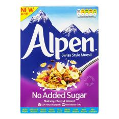 Ngũ cốc giảm cân Alpen không đường việt quất, cherry, hạnh nhân 560g nhập khẩu Anh