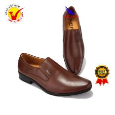 Minh Nhân – Giày lười nam da bò Giày Công Sở nam Giày tây nam Đẹp Thời trang Doanh nhân Kinh doanh Cao cấp Hàng Hiệu Giá rẻ Da Bò L-16 màu nâu