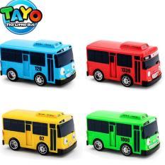 Bộ 4 xe buýt Tayo mô hình Tayo the little bus đồ chơi trẻ em