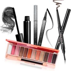 Bộ trang điểm mắt 4 món LAMEILA cá tính cuốn hút bộ makeup mắt set trang điểm Mascara + Kẻ mắt + Bảng phấn mắt + Chì kẻ mày