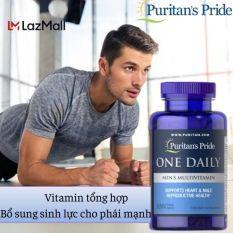 Vitamin tổng hợp HSD : 31/03/2022 cho đàn ông, tăng cường sức khỏe, hỗ trợ hệ miễn dịch của Puritan's Pride – One Daily Men Multivitamins