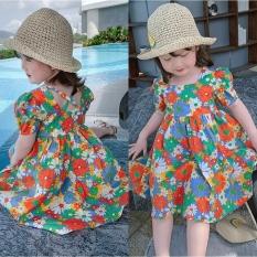 Váy bé gái hoa hướng dương – đan lưng cực xinh cho bé