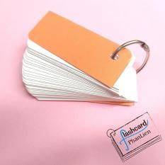 20 xấp flashcard trắng 3x8cm bo góc nghệ thuật kèm 20 khoen – Flashcard Phan Liên