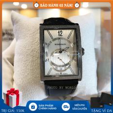 Đồng hồ nam Romanson DL5146NMWWH full hộp, thẻ bảo hành hãng, chống nước, dây da