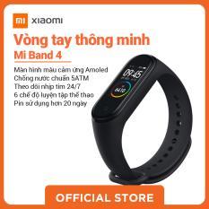 Xiaomi official Mi band 4 Đen_ Hàng chính hãng, Bảo hành điện tử 12 tháng