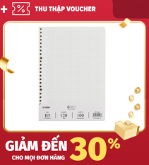 [Lấy mã giảm thêm 30%]Set sổ còng A5 Grid – 100 tờ KLong