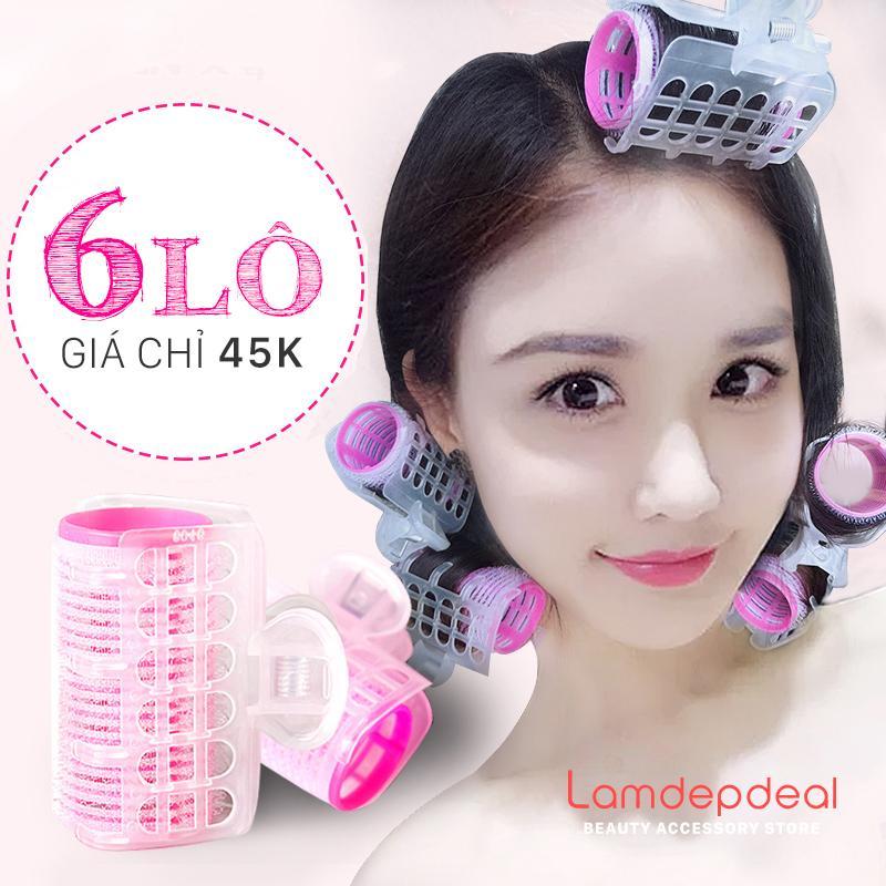 Bộ 6 Lô Uốn Tóc Tự Dính Có Kẹp – phụ kiện tóc giá rẻ – Lavy Store