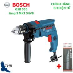 Máy khoan động lực Máy khoan đa năng Bosch GSB 550 tặng 3 mũi khoan tường 5/6/8 Công suất 550W Bảo hành 6 tháng