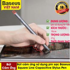 Bút cảm ứng Baseus Square Line Capacitive Stylus Pen (Anti Misoperation) sử dụng pin sạc 140mAh cho Samsung Máy tính bảng Ipad Pro