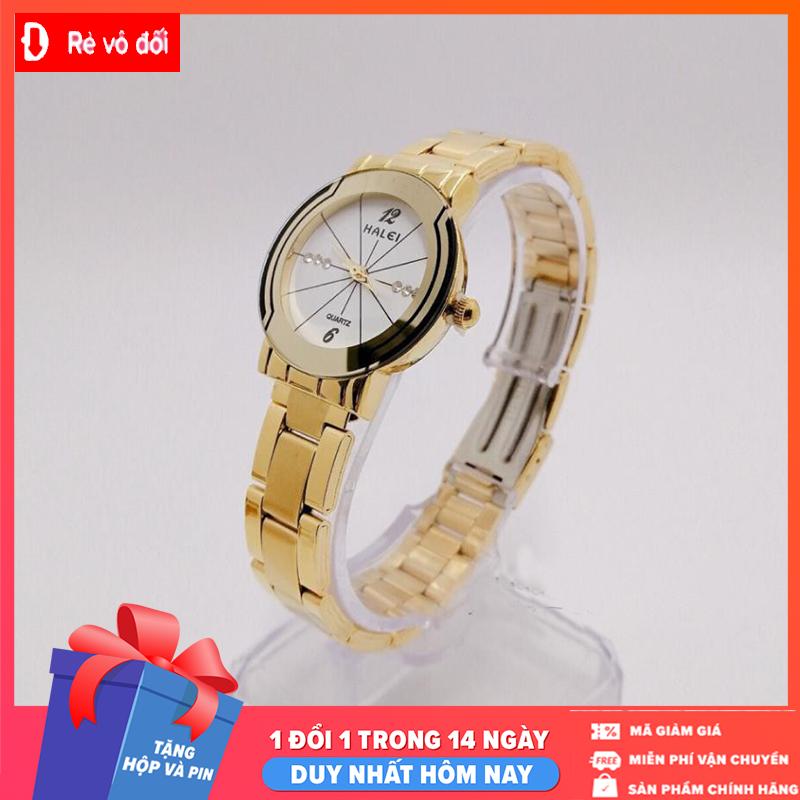 Đồng hồ nữ Halei dây kim loại,chống nước ,chống xước tuyệt đối, sang trọng lịch lãm – Tặng pin dự phòng – Tặng pin dự phòng – Sam Shop