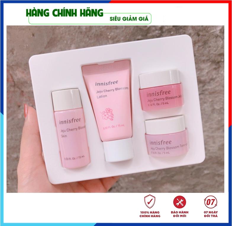 [Hàng Auth Hàn Quốc] Bộ Dưỡng Trắng Da – Bộ dưỡng da chiết xuất Từ Hoa Anh Đào Innisfree Jeju Cherry Blossom Kit