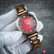 [Xả Giá 19k – KH tự thay pin] Đồng hồ đeo tay nữ dây kim loại vàng hồng Guou CH319-322, máy Nhật, chong nuoc, Smart247