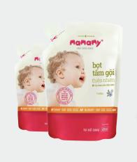 Combo 2 túi bổ sung Bọt Tắm Gội Thiên Nhiên Mamamy Floral (200ml)