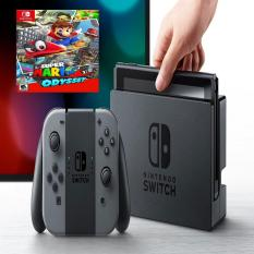 Máy Chơi Game Nintendo Switch With Gray Joy-Con + Super Mario Odyssey