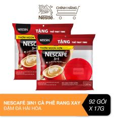 [Tặng 2 thố thủy tinh tiện dụng] Combo 2 bịch Nescafé 3in1 cà phê rang xay hòa tan đậm đà hài hòa (Bịch 46 gói x 17g)