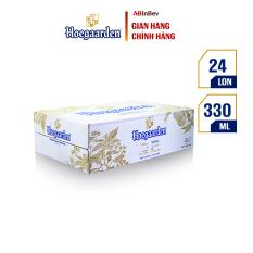 Thùng 24 lon bia Hoegaarden White (330ml/lon) – Dòng Bia Lúa Mì Xuất Xứ Từ Bỉ
