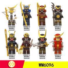 [LEGO MINIFIGURES] SET 8 LÍNH SAMURAI ARMOR VÕ SĨ ĐẠO NHẬT BẢN MẪU MỚI WM6096