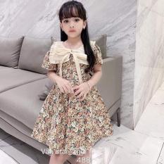 {HÀNG MỚI VỀ} Váy bé gái – Váy hoa cổ nơ cực xinh cho bé gái – VBG-HH-HX