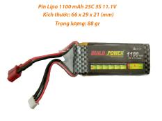 [HCM]Pin Lipo 1100 mAh 11.1V 25C 3S dùng cho đồ chơi công nghệ cao Buil Power