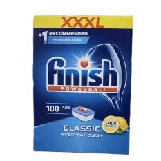 Hộp 100 viên rửa chén Finish Hương Chanh (Dành cho máy rửa chén 9-10-12-13-14 bộ) ngẫu nhiên