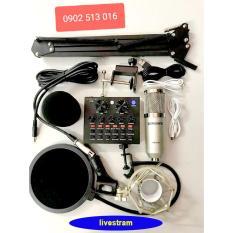 [Khuyến Mãi] [HOT] Trọn bộ Sound-card V8 + Micro Woaichang BM900 chuyên karaoke, livestream, thu âm