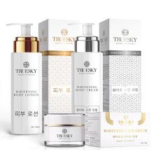 Bộ sản phẩm tắm trắng toàn thân cấp tốc và dưỡng trắng da mặt Truesky VIP02 – Mỹ phẩm chính hãng