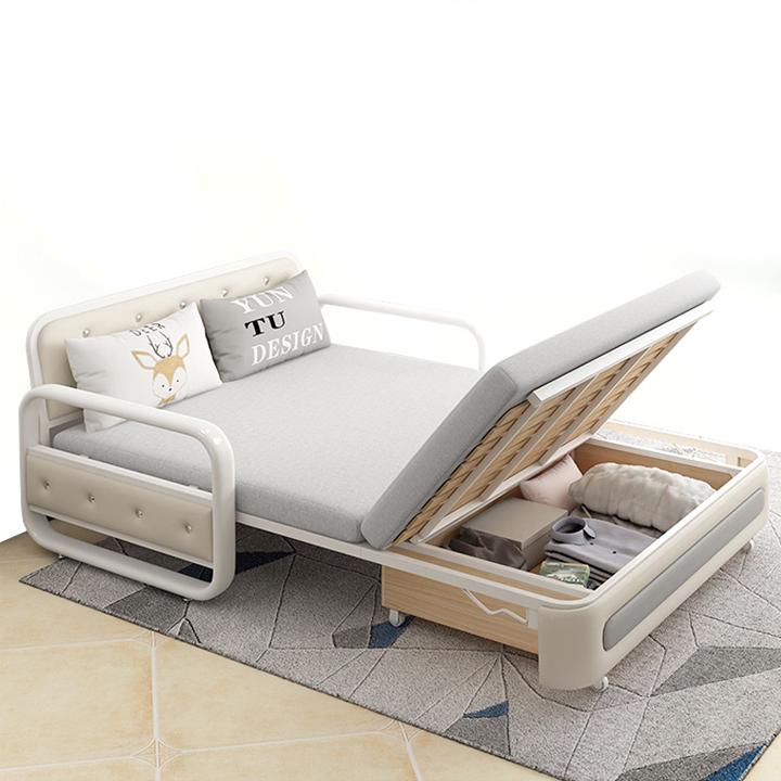 Giường sofa có ngăn chứa đồ thông minh gấp gọn 2 chế độ kéo ra thành giường đẩy lại thành ghế ( kích thước 1,5mx1,93m )