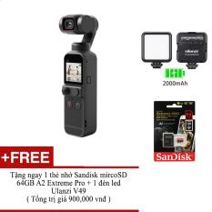 Máy quay phim cầm tay DJI Osmo Pocket 2 – Tặng kèm 1 thẻ nhớ + 1 đèn led |