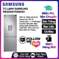 Tủ lạnh Samsung Inverter 307 lít RB30N4170S8/SV Miễn phí vận chuyển nội thành Sóc Trăng, Bạc Liêu, Cà Mau