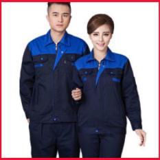 Áo bảo hộ lao động SHUNI005AS vải kaki loại dày khóa kéo Size S