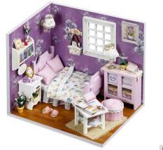 Đồ chơi mô hình nhà gỗ diy Cute Room H-001(Tặng Mica Che Bụi + Keo )