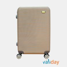 Vali kéo du lịch Validay size 24 inches màu hồng đồng 802 – 24