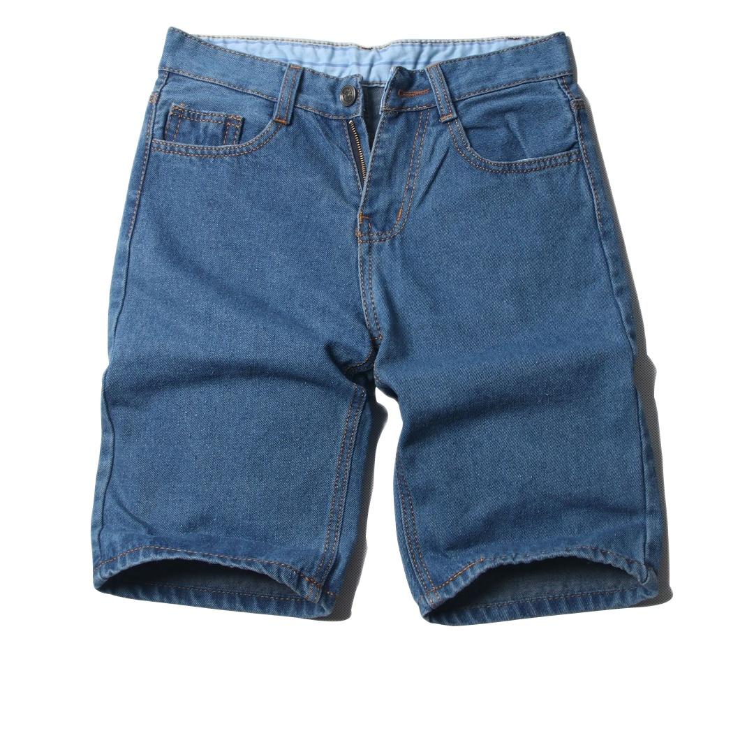Quần short jeans nam có videos tự quay xanh đậm đẹp bền quan short nam muidoi ( Q392 )