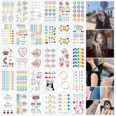 Combo 30 Tấm Hình Xăm Dán Mini Emoji Cảm Xúc – Flash Tattoo Phong Cách Hàn Quốc Cực Cá Tính