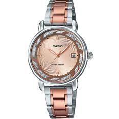 Đồng hồ nữ dây thép không gỉ Casio Anh Khuê LTP-E120RG-9ADF