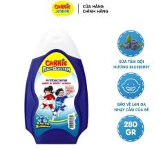 Sữa Tắm Gội Sạch Khuẩn Carrie Junior BacBuster Hương Blueberry 280G
