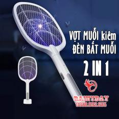 Vợt muỗi kiêm đèn bắt muỗi thông minh 2 in 1 tự động pin sạc điện usb cao cấp