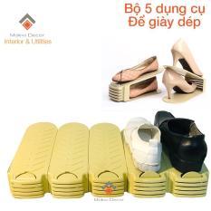 Bộ 5 dụng cụ để giày dép tiết kiệm không gian