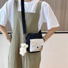 Túi Đeo Chéo Nữ Túi Đeo Vai Vải Chống Thấm Cúc Bấm Cá Tính Thời Trang