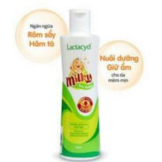 Sữa tắm gội cho bé Lactacyd Milky 250ml