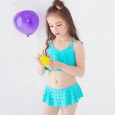 Đồ bơi bé gái 1-10 tuổi 10-30 kg áo hai dây váy xòe co giãn tốt nhiều màu KhaHanshop