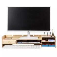 Kệ để màn hình máy tính để bàn có ngăn kéo nhỏ