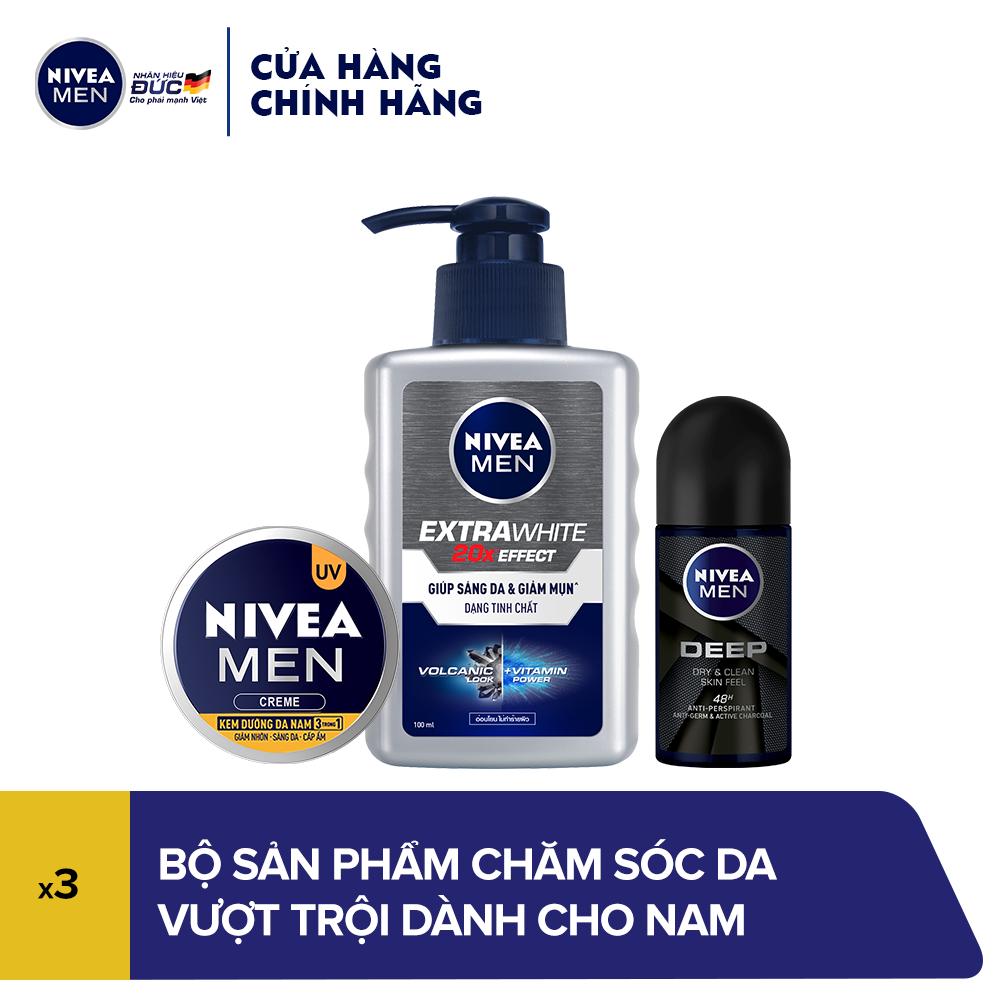 Bộ sản phẩm chăm sóc da vượt trội dành cho nam Nivea
