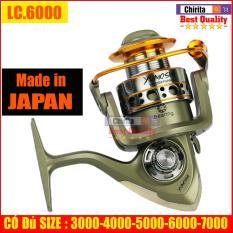 Máy câu cá Yumoshi LC 12 bạc đ ạn ĐỦ SIZE 3000, 4000, 5000, 6000, 7000 (Shop Có Bán Đủ Loại Dây Cước Câu Cá) – Chirita Shop