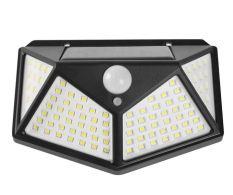 Đèn cảm ứng chuyển động sử dụng năng lượng mặt trời chống nước IP66 100 led siêu sáng 3 chế độ
