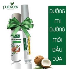 Top Bán Chạy – Mascara dưỡng mi và dưỡng môi dầu dừa Purevess giúp mi dài và dày, giúp môi giảm thâm. Coconut Oil Mascara & Lip Balm.